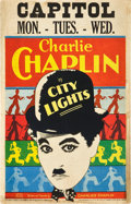 "Movie Posters:Comedy, City Lights (United Artists, 1931). Window Card (14"" X 22"").. ..."