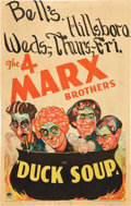 """Movie Posters:Comedy, Duck Soup (Paramount, 1933). Window Card (14"""" X 22"""").. ..."""