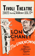 "Movie Posters:Drama, The Unknown (MGM, 1927). Window Card (14"" X 22"").. ..."
