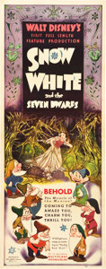 "Movie Posters:Animation, Snow White and the Seven Dwarfs (RKO, 1937). Insert (14"" X 36"").. ..."