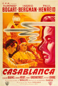 "Movie Posters:Academy Award Winners, Casablanca (Warner Brothers, 1940s). First Post-War Release French Affiche (31.5"" X 47"").. ..."