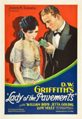 "Movie Posters:Drama, Lady of the Pavements (United Artists, 1929). One Sheet (27"" X41"").. ..."