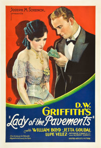 """Lady of the Pavements (United Artists, 1929). One Sheet (27"""" X 41"""")"""