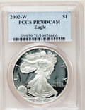Modern Bullion Coins, 2002-W $1 Silver Eagle PR70 Deep Cameo PCGS. PCGS Population (959).NGC Census: (3322). Numismedia Wsl. Price for problem ...