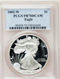 Modern Bullion Coins, 2002-W $1 Silver Eagle PR70 Deep Cameo PCGS. PCGS Population (934).NGC Census: (3246). Numismedia Wsl. Price for problem ...