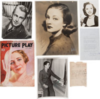Alan Ladd, Lucille Ball, Tallulah Bankhead, and Others Vintage Autographed Items