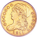 Early Half Eagles, 1811 $5 Tall 5--Altered Surfaces--ANACS. AU55 Details. Breen-6463,BD-1, High R.3....