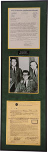 Music Memorabilia:Autographs and Signed Items, Buddy Holly Australian Tour Contract....