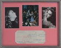 Movie/TV Memorabilia:Autographs and Signed Items, Judy Garland Signed Check....