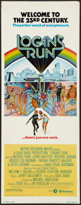 """Movie Posters:Science Fiction, Logan's Run (MGM, 1976). Insert (14"""" X 36""""). Science Fiction.. ..."""