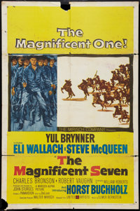 "The Magnificent Seven (United Artists, 1960). One Sheet (27"" X 41""). Western"