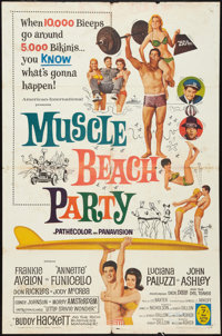 "Muscle Beach Party Lot (American International, 1964). One Sheets (2) (27"" X 41""). Comedy. ... (Total: 2 Items..."