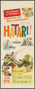 "Movie Posters:Adventure, Hatari! (Paramount, 1962). Insert (14"" X 36""). Adventure.. ..."