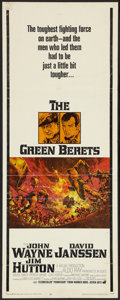 "Movie Posters:War, The Green Berets (Warner Brothers, 1968). Insert (14"" X 36""). War.. ..."