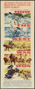 """Movie Posters:Western, How the West Was Won (MGM, 1963). Insert (14"""" X 36""""). Western.. ..."""