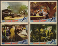 "Movie Posters:War, Flying Tigers (Republic, 1942). Lobby Cards (4) (11"" X 14""). War..... (Total: 4 Items)"