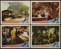 """Flying Tigers (Republic, 1942). Lobby Cards (4) (11"""" X 14""""). War. ... (Total: 4 Items)"""