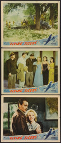 "Movie Posters:War, Flying Tigers (Republic, 1942). Lobby Cards (3) (11"" X 14""). War..... (Total: 3 Items)"