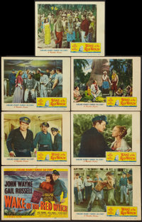 "Wake of the Red Witch (Republic, 1949). Title Lobby Card & Lobby Cards (6) (11"" X 14""). Adventure. ... (To..."