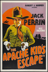 """The Apache Kid's Escape (Associated Film Exchanges, 1930). One Sheet (27"""" X 41""""). Western"""