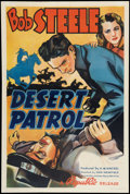 "Movie Posters:Western, Desert Patrol (Republic, 1938). One Sheet (27"" X 41""). Western.. ..."