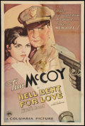 "Movie Posters:Action, Hell Bent for Love (Columbia, 1934). One Sheet (27"" X 41"").Action.. ..."