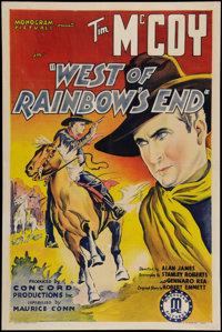 "West of Rainbow's End (Monogram, 1938). One Sheet (27"" X 41""). Western"