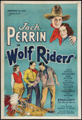 "Movie Posters:Western, Wolf Riders (William Steiner, 1935). One Sheet (27"" X 41""). Western.. ..."