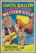 """Movie Posters:Western, Western Gold (Ace Pictures, R-1940s). One Sheet (27"""" X 41""""). Western.. ..."""