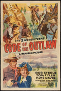 "Movie Posters:Western, Code of the Outlaw (Republic, 1942). One Sheet (27"" X 41""). Western.. ..."