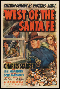 """West of the Santa Fe (Columbia, 1938). One Sheet (27"""" X 41""""). Western"""