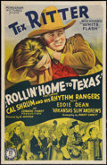 """Movie Posters:Western, Rollin' Home to Texas (Monogram, 1940). One Sheet (27"""" X 41""""). Western.. ..."""