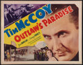 """Movie Posters:Western, Outlaw's Paradise (Victory, 1939). Half Sheet (22"""" X 28""""). Western.. ..."""