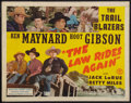 """Movie Posters:Western, The Law Rides Again (Monogram, 1943). Half Sheet (22"""" X 28""""). Western.. ..."""