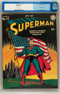Superman #24 (DC, 1943) CGC NM 9.4 White pages