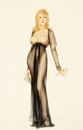 Paintings, ALBERTO VARGAS (American, 1896-1982). Playboy cover, March 1965. Gouache, watercolor, and pencil on board. 29.5 x 19.5 i... (Total: 2 Items)