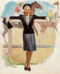 Paintings, GIL ELVGREN (American, 1914-1980). Track Girl, 1939. Oil on canvas. 29 x 23 in.. Not signed. ...