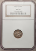 Seated Half Dimes, 1856 H10C MS66 NGC....
