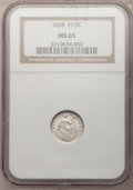 Seated Half Dimes, 1858 H10C MS65 NGC....