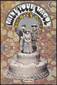 """Paint Your Wagon (Paramount, 1969). Peter Max Promo Poster (24"""" X 36""""). Wedding Cake Style. Musical"""