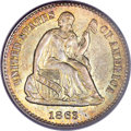 Seated Half Dimes, 1863-S H10C MS65 PCGS....