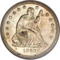 Seated Quarters, 1860-O 25C MS64 NGC....