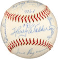 Baseball Collectibles:Balls, 1966 Pittsburgh Pirates Team Signed Baseball - (21 Signatures) With Clemente!...