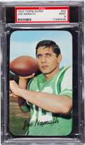 Football Cards:Singles (1970-Now), 1970 Topps Super Joe Namath #33 PSA Mint 9....
