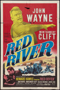 "Movie Posters:Western, Red River (United Artists, R-1952). One Sheet (27"" X 41""). Western.. ..."