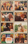 "Movie Posters:Western, Roaring Six Guns (Ambassador Pictures, 1937). Lobby Card Set of 8 (11"" X 14""). Western.. ... (Total: 8 Items)"