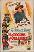 "Movie Posters:Western, The Doolins of Oklahoma (Columbia, R-1955). One Sheet (27"" X 41""). Western.. ..."