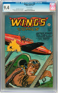 Golden Age (1938-1955):Adventure, Wings Comics #81 (Fiction House, 1947) CGC NM 9.4 Off-white page....