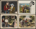 "Movie Posters:Western, Branded a Thief Lot (William Steiner, 1924). Lobby Cards (4) (11"" X14""). Western.. ... (Total: 4 Items)"