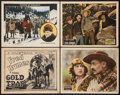 """Movie Posters:Western, The Gold Trap Lot (Universal, 1925). Title Lobby Card and Lobby Cards (3)(11"""" X 14""""). Western.. ... (Total: 4 Items)"""